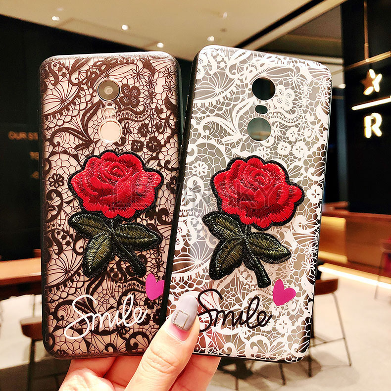 3D Relief Sexy Lace Rose Phone Case For Xiaomi Mi Pocophone F1 A2 Lite A1 6X Redmi 6A 5 Plus S2 Note 6 Pro 5A Prime 4 4X 3 Case