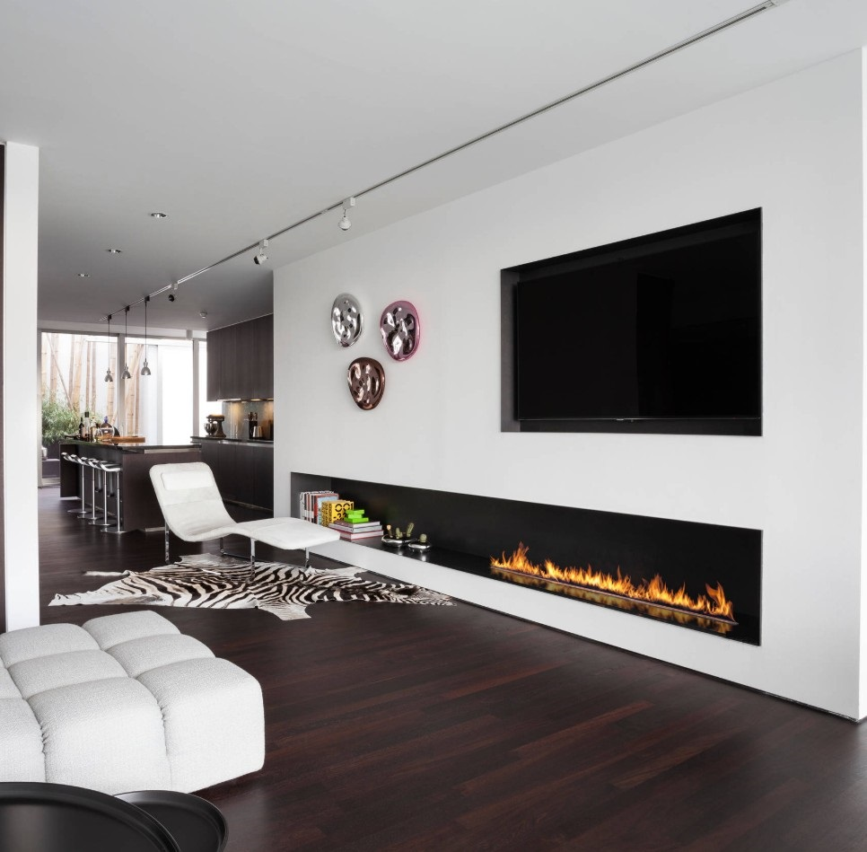 On Sale 48 Inch Built-in  Intelligent Electric Fireplace Bioethanol With Ethanol Burner