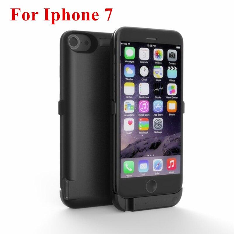 imágenes para Para apple iphone 7 calidad caja de batería de alta capacidad 10000 mah banco de la energía externa cubierta del cargador inteligente para iphone 7 potencia caso