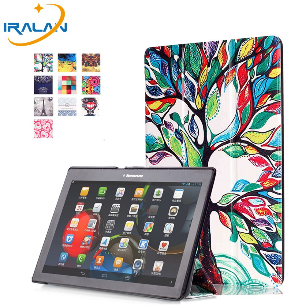 Hot smart color painting leather cover for Lenovo Tab 3 10 Plus TB-X103F 10.1 ''Tablet PC case for tab2 A10-70F +stylus + film 3 in 1 new ultra thin smart pu leather case cover for 2015 lenovo yoga tab 3 850f 8 0 tablet pc stylus screen film