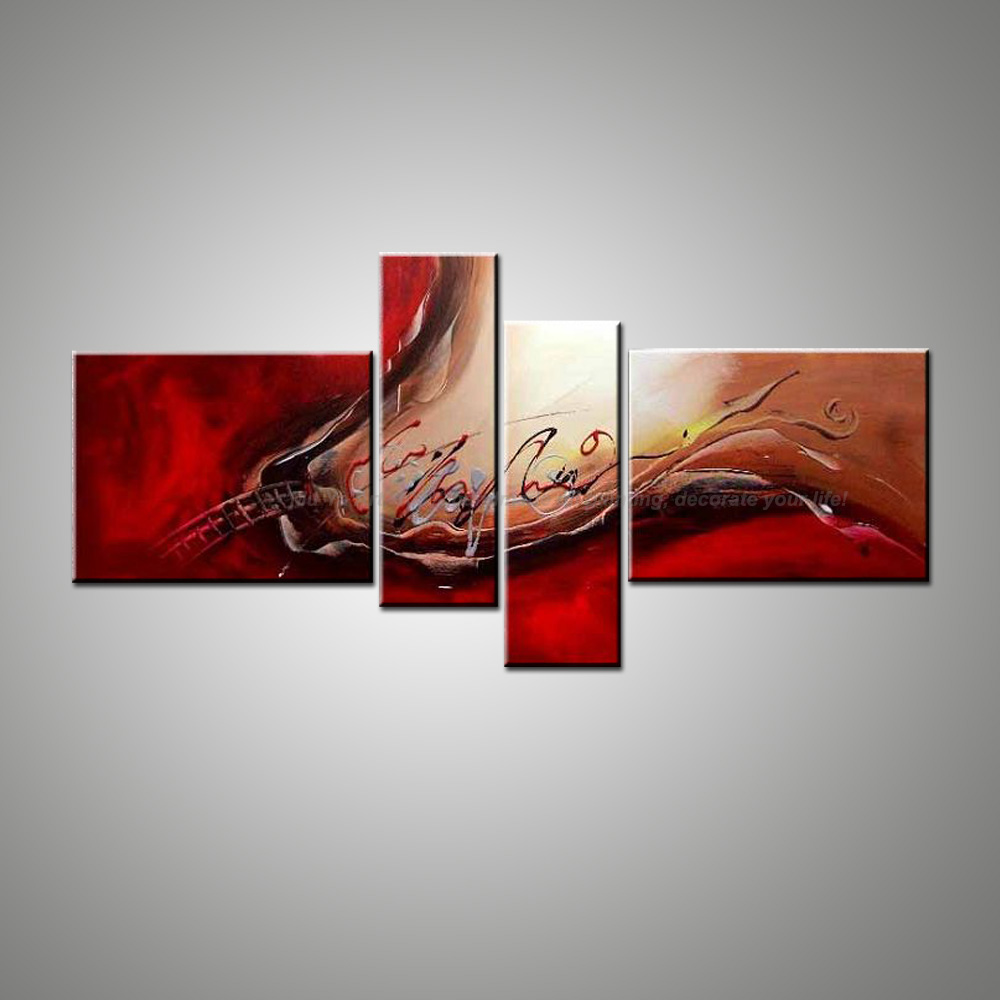 Modern Wall Paintings Living Room Popular Red Black Wall Art Buy Cheap Red Black Wall Art Lots From