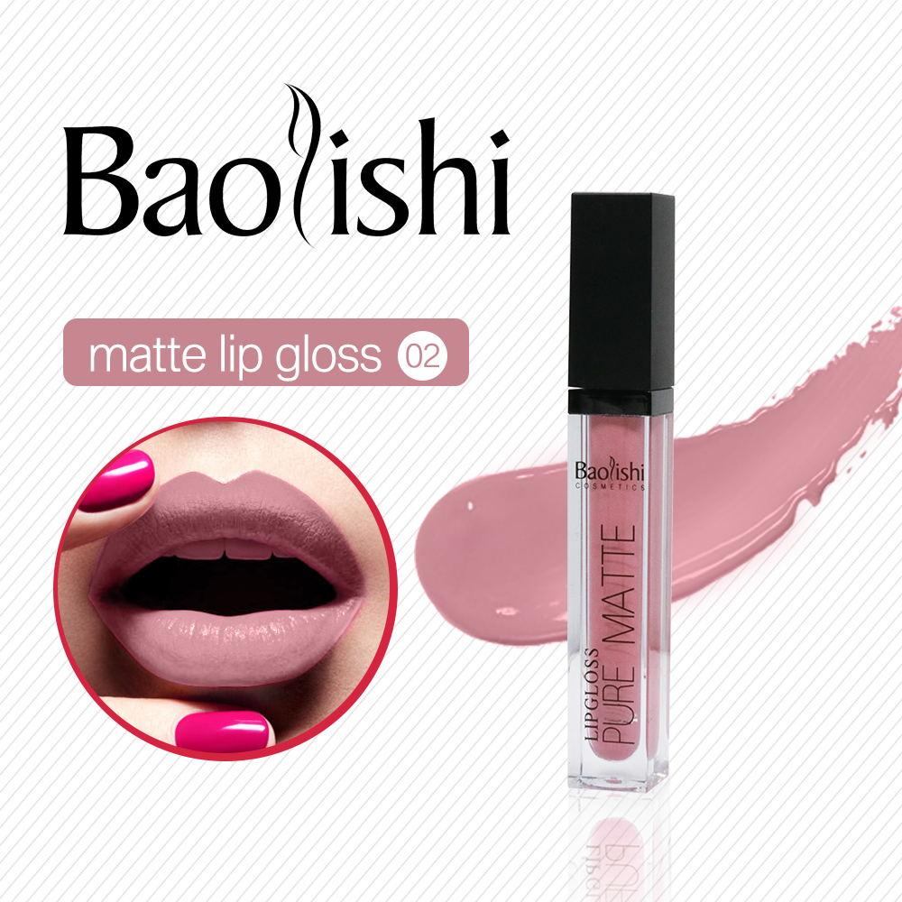 baolishi Antihaft-Tasse matt Lipgloss Wasserdicht Farbton Nude - Make-up - Foto 4