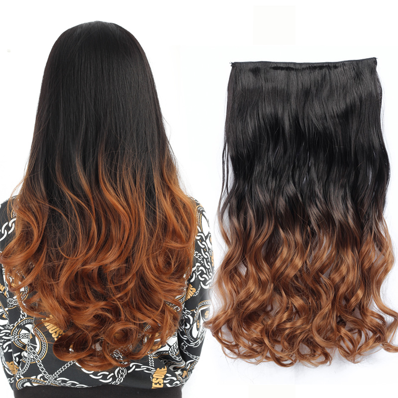 Clip in hair picture more detailed picture about rockstar wigs rockstar wigs 12colors 60cm long wavy colored ombre synthetic hairpiece clip in hair extensions for women pmusecretfo Images