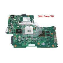 NOKOTION V000218130 L655 Laptop Motherboard Principal Board Para Toshiba Satellite L650 HM55 DDR3 HD5470 gráficos CPU Livre