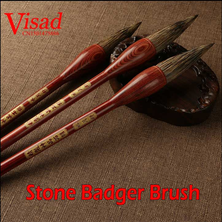High Qualtity Stone Badger Brush Chinese Brushes Calligraphy Brushes Pen Artist Brushes Painting Supplies