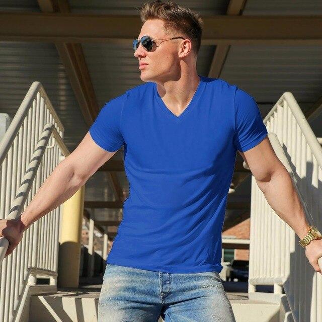 2018 MRMT Brand Clothing 10 colors V neck Men's T Shirt Men Fashion Tshirts Fitness Casual For Male T-shirt S-5XL Free Shipping