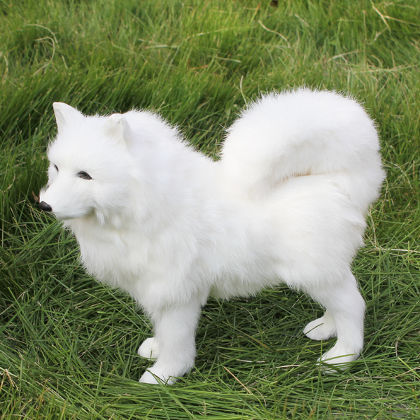 realistic miniature cuddly dog grooming fur model