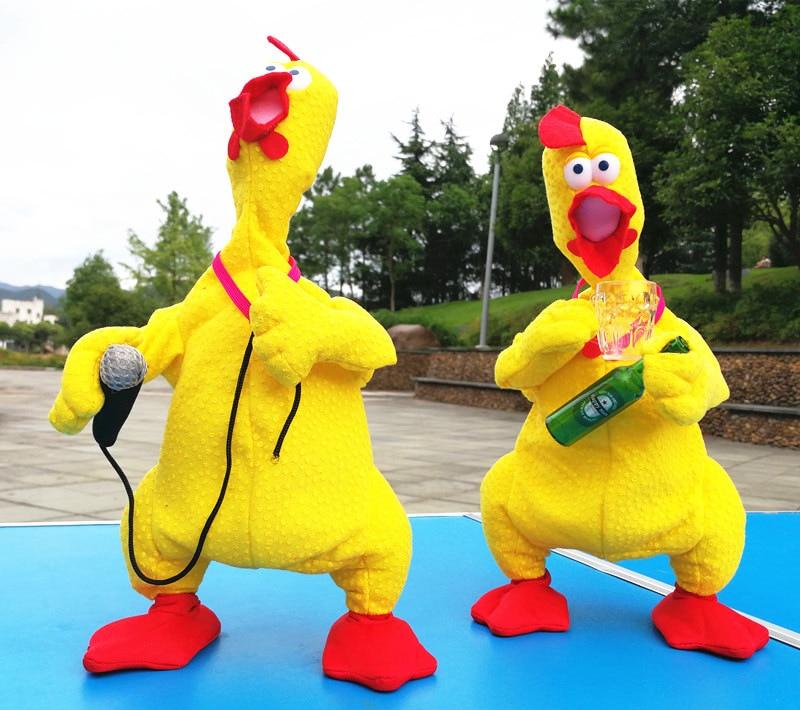 [Best] Very Cute Animal Electronic Pet Music Dance Talk Singing Screaming Singer Chicken Robot Plush Toy Doll Kids Baby Gift
