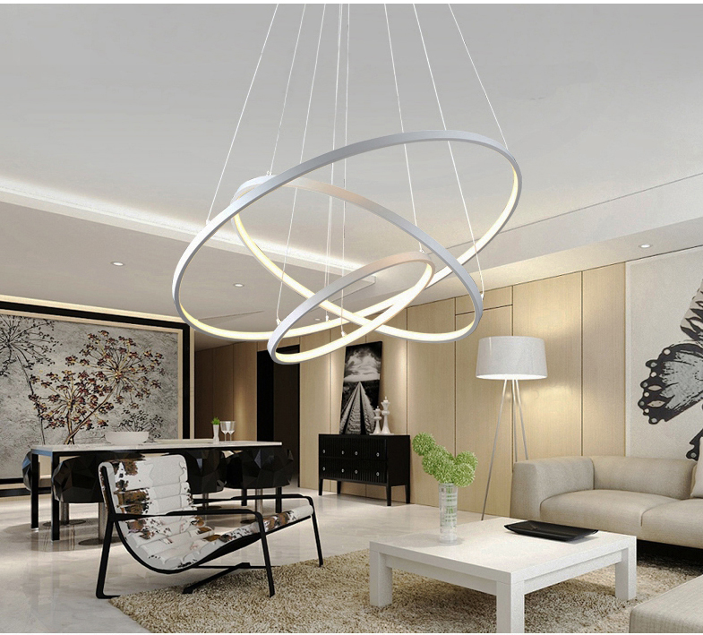 HTB1KqsqywmTBuNjy1Xbq6yMrVXaV 60CM 80CM 100CM Modern Pendant Lights For Living Room Dining Room Circle Rings Acrylic Aluminum Body LED Ceiling Lamp Fixtures