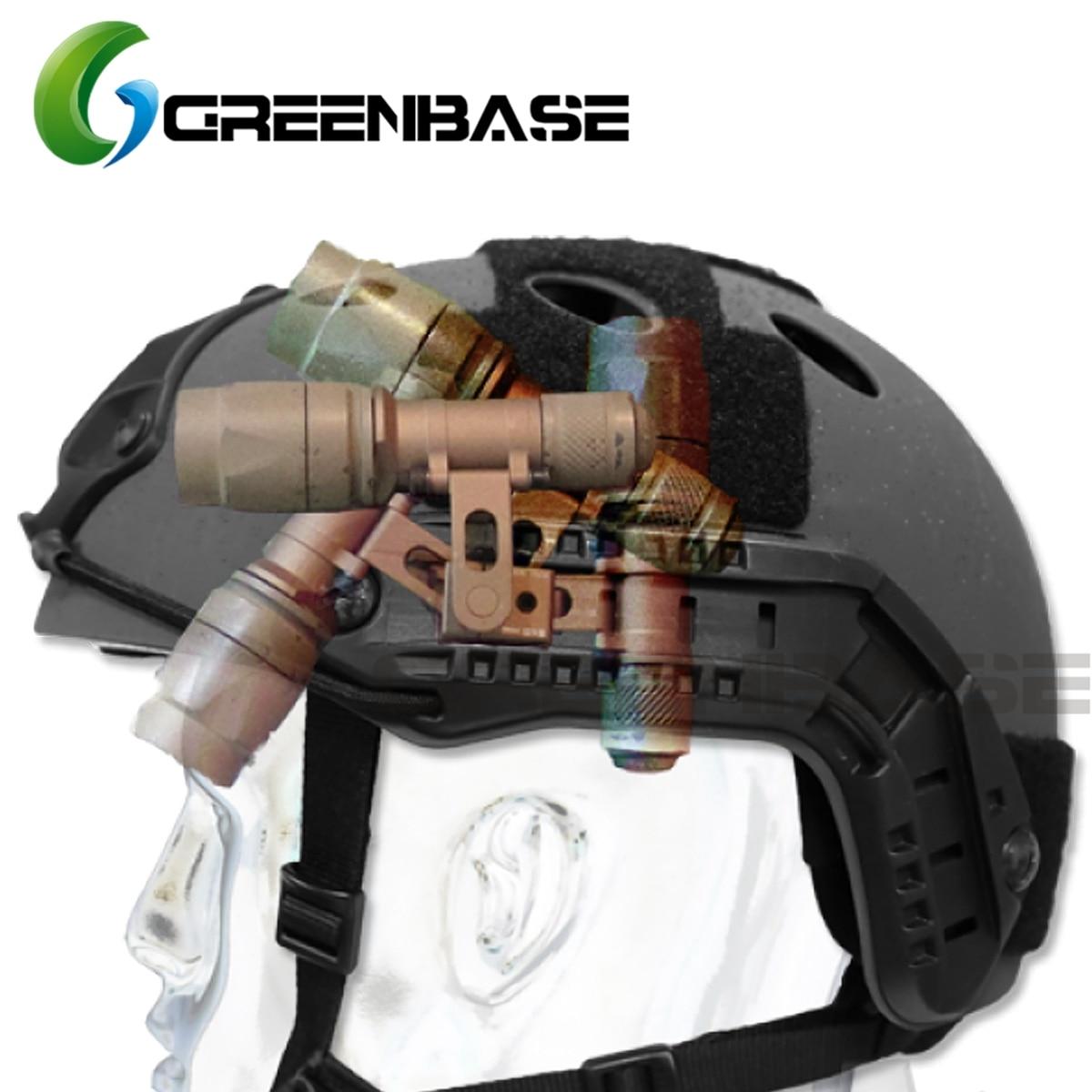 Us 156 46 Offprecision Low Profile Helmet Mount M300b M300c M300v Series Flashlight Mount For Arc Helmet Rail Intergrated Flashlight Mount In