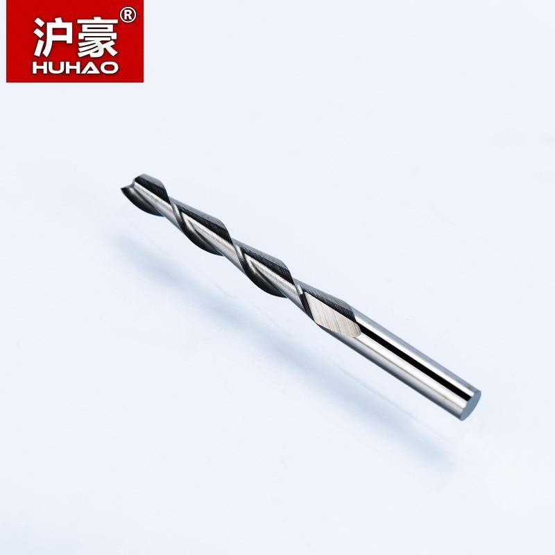 HUHAO 5 pz / lotto 3.175 mm 2 Flauto Fresa a spirale fresa per legno - Macchine utensili e accessori - Fotografia 3