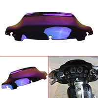 6 5 Motorcycle Clear Black Smoke Chrome Lridium Wave Windshield Windscreen For Harley Touring FLHX FLHT