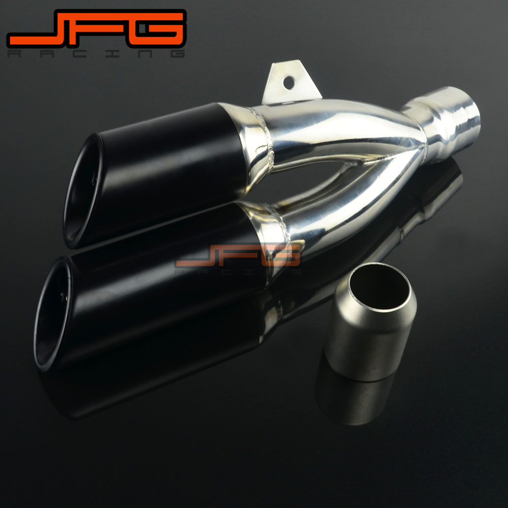 38-51 Universal Thunder Dual Exhaust Muffler Pipe Slip on for Honda Yamaha Kawasaki Suzuki Motorcycle Street Bike Scooter ATV