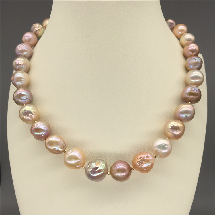 Free Shipping **18 Genuine Natural 12-13mm Purple Baroque Reborn Keshi pearl necklace Free Shipping **18 Genuine Natural 12-13mm Purple Baroque Reborn Keshi pearl necklace