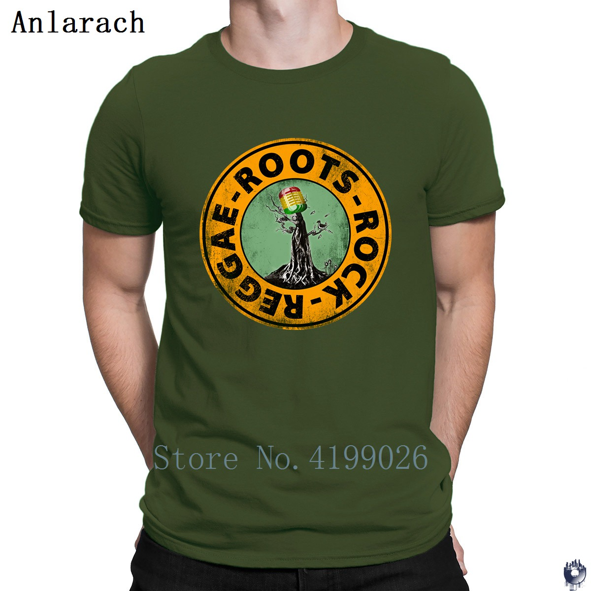 Image 5 - Roots Rock Reggae. t shirts Euro Size Pop Top Tee Basic Solid men's tshirt Designing High quality summer Anlarach New Style-in T-Shirts from Men's Clothing