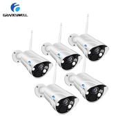 5 PCS Graneywell 1080P HD Wifi IP Camera Outdoor IR 50m Smart Color Night Vision Wireless Camera Home Security Bullet IP Cam