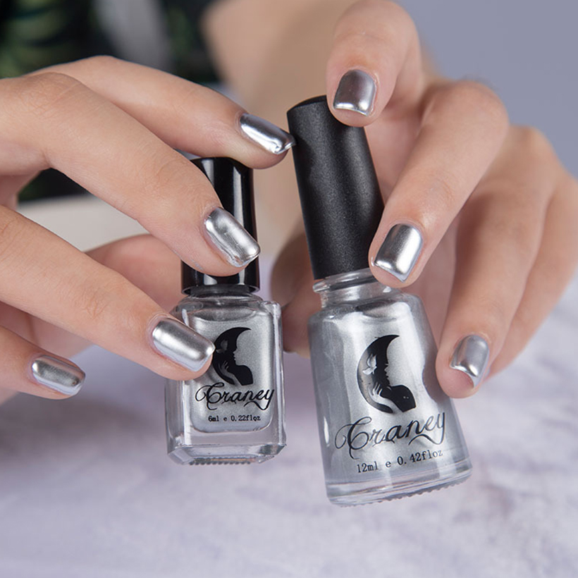 Thinkboo Nagellak Zilver Metalen Kleur Gel Polish Nail Art Vinger