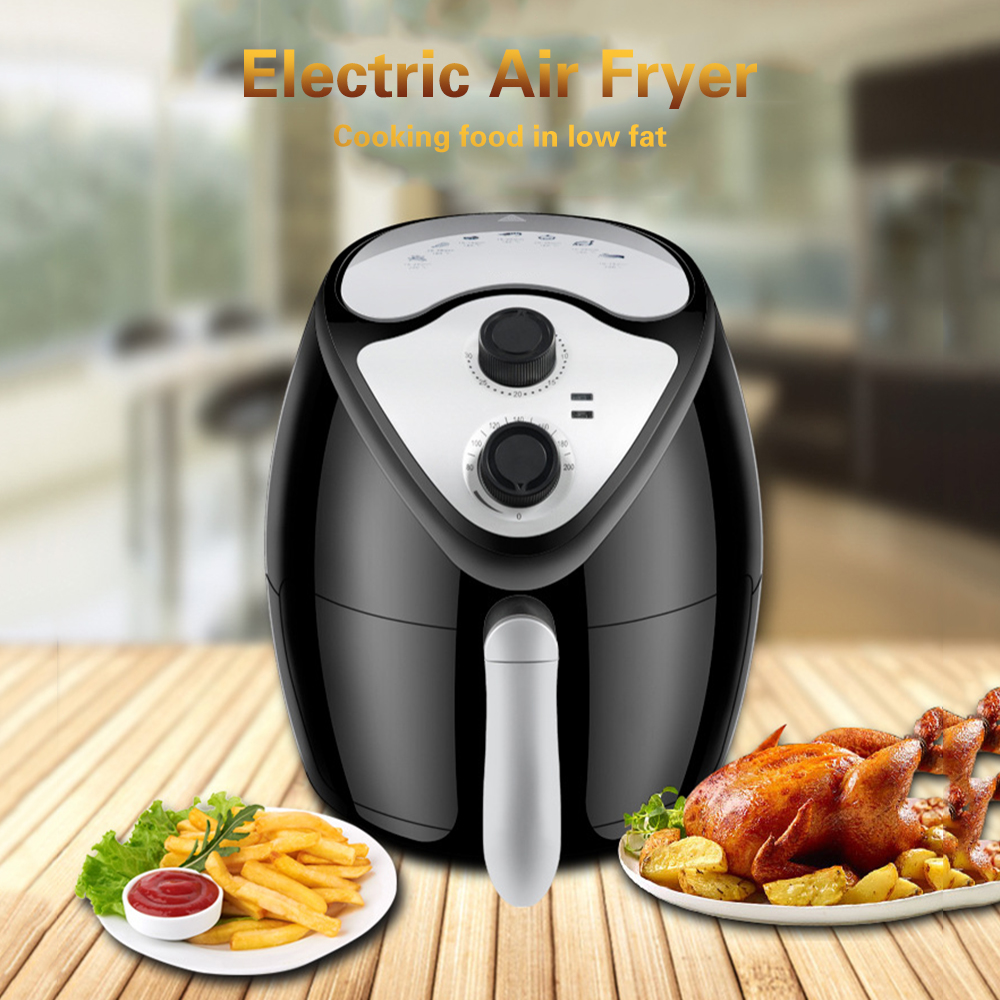 Multifunctional Air Fryer Electric Hot Air Oil Free Smokeless Kitchen Cooker 2 6L Capacity 220V 1300W
