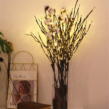1Pcs Christmas Decoration Tree Branch Light 20Leds String Lights Table Ornaments For Home New Year Navidad.