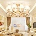 זכוכית קריסטל זהב הוביל מנורת led e14 הפוסטמודרנית ברזל. LED Light. אורות תקרה. תקרת אור LED. מנורת תקרה מבואת חדר שינה-בתאורת תקרה מתוך פנסים ותאורה באתר