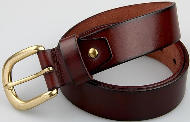 2016 newest men belt 100% genuine leather belt for men full grain leather belt black brown pin buckle belts for jeans cowboy