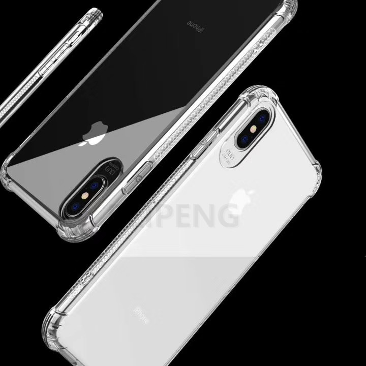 PEIPENG  Luxury phone CaseThickened anti-fall For iPhone XS MAX XR X Ultra Thin Transparent Back Case For iPhone 6 6s 7 8Plus Simple 04