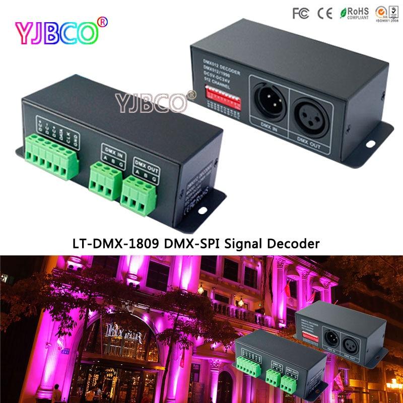 led controller LT-DMX-1809 DMX Decoder;DMX-SPI signal convertor, support TM1804/TM1809/WS2811/WS2812B etc цены онлайн