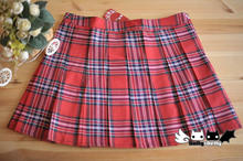Princess sweet lolita skirt college cosplay uniform wind joker Scotland students pleated skirt Dolley 0038