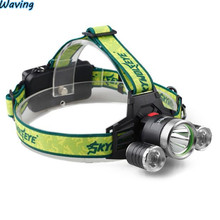 1PC Flashlight 2017 Bicycle Bike Front Head Light 9000Lm 3X XML T6 2R5 LED Headlight Headlamp