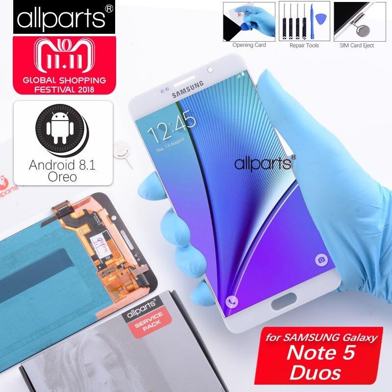 5.7 ''AMOLED LCD ORIGINALE per SAMSUNG Galaxy Note 5 Display A CRISTALLI LIQUIDI di Tocco Dello Schermo per la Nota di SAMSUNG 5 Note5 N920A n9200 SM-N920 N920C