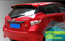 Free shipping! High quality Stronger ABS material with color paint rear wing Spoilers,Empennage for Toyota Yaris 2009-2015