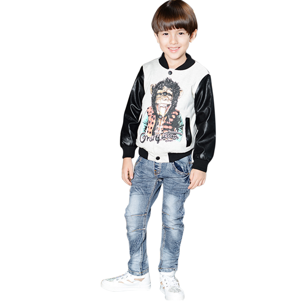 Baby Boys Denim Jeans Kids Children Pants Boys Clothing Elastic Denim Pants Trousers Bottoms 6 to