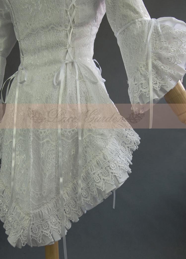 VANOVICH/Модная кружевная рубашка с расклешенными рукавами, с вырезом лодочкой, блузки и топы, женская летняя и весенняя Новинка 2019, женская оде... - 4