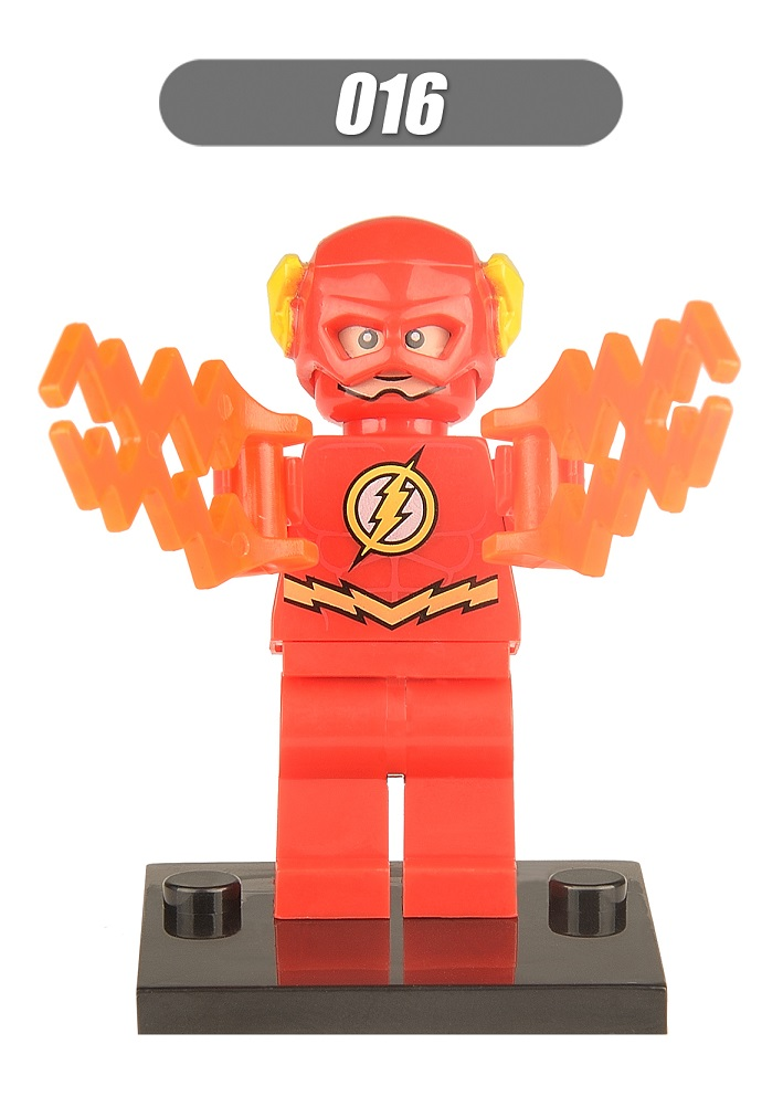 Single Sale Super Heroes Star Wars Red The Flash Bricks Assemble Building Blocks Collection Children Gift Toys XH 016 single sale star wars superhero marvel iceman x men building blocks model bricks toys for children brinquedos menino