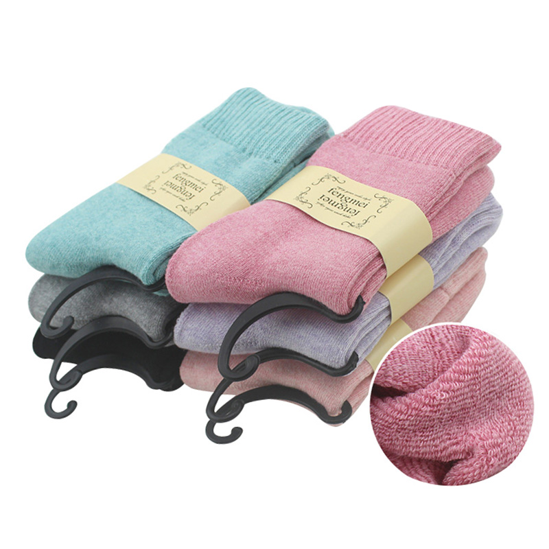 5 Pairs Women Socks Winter Thermal Cashmere Socks Women Warm Rabbit Wool Socks Women's Thicken Socks Girls Lady Calcetines Mujer