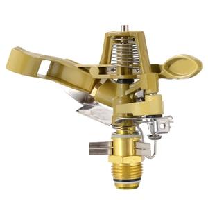 Image 4 - Metal Garden Sprinkler Spike Lawn 360 Degree Adjustable Rotating Water Nozzle Impulse Sprinkler for Irrigation System