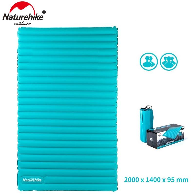 NatureHike Gonflable Matelas pour 2 ~ 3 Personne 200x120/140x9.5 cm Grande Taille Portable Air pad NH17T120-U