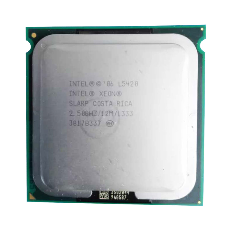 XEON l5420 CPU 2.5GHz /L2 Cache 50W 12MB/Quad-Core//FSB 1333MHz/ server <font><b>Processor</b></font> working on some 775 socket mainboard image