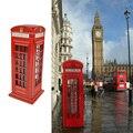 Crianças Brinquedo de Presente de Metal Britânico Inglês Poupar Dinheiro Moeda Piggy London Street Red Telephone Booth Banco Lembrança Modelo Box Jar