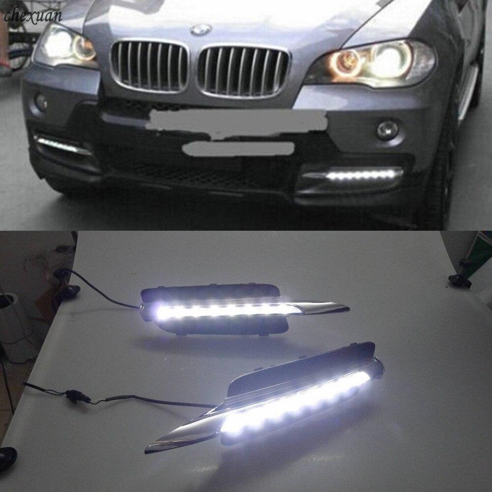 CSCSNL 1 Set 12v ABS LED For BMW X5 E70 2007 2008 2009 2010 DRL Daytime