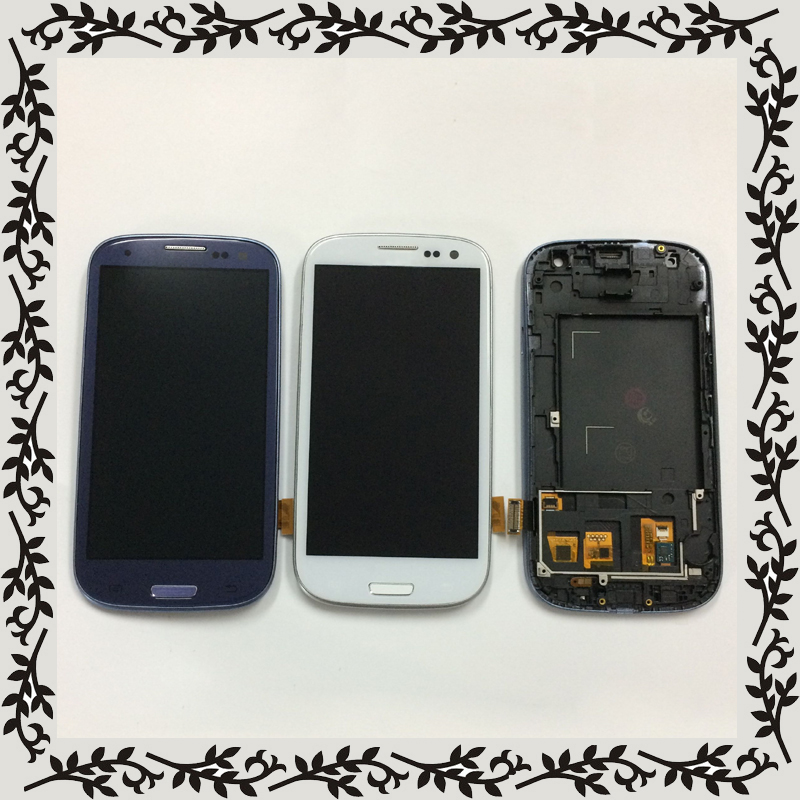 2 Color For Samsung Galaxy S III S3 i9300 GT-I9300 S3 Neo i9300 GT-i9300i LCD Display Monitor + Touch Screen Assembly + Frame