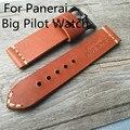 Ручной 20 мм 22 мм 24 мм ремень из натуральной кожи, Borwnmen святого ремешки для PAM и большой пилот часы