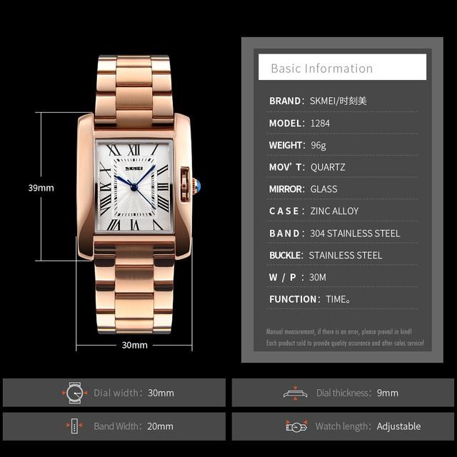 SKMEI Hot Sales Ladies Watch Clock Women Watches Luxury Stainless Steel Analog Quartz Watch Women Relogio Feminino Montre Femme