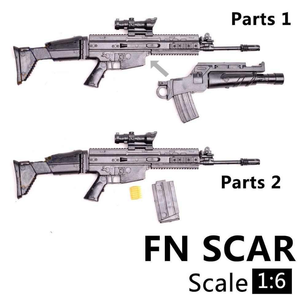 """1/6 مقياس FN ندبة SOF مكافحة بندقية نموذج الجمعية الألغاز قوالب بناء سلاح بندقية صالح 12 """"عمل الشكل"""