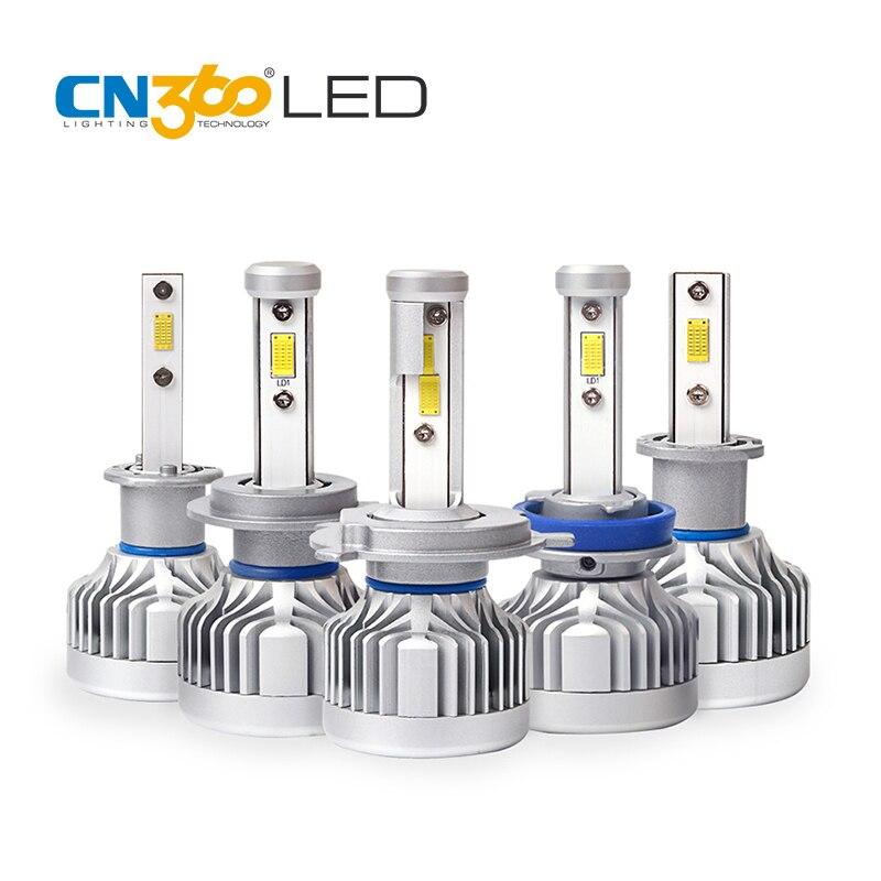 CN360 2 PCS 9005 HB3 9006 HB4 H4 HB2 9003 H7 H11 LED CITIZEN Chip Car Headlight Fog Lamp 10000Lumens 6000K 60W 12V LED Bulb