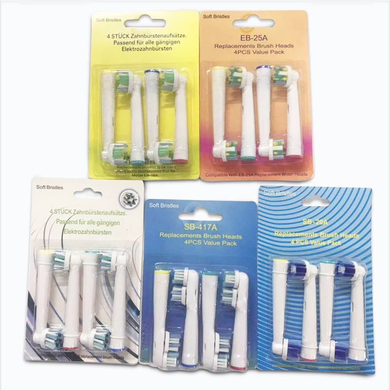 Various Replacement Electric Toothbrush Heads Fit For Oral B Rotating Type Electric Teeth Brush Precision Cleaning 3D Whitening