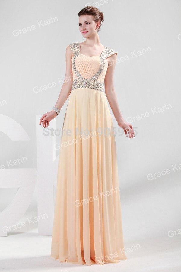Vestidos de fiesta largos color beige