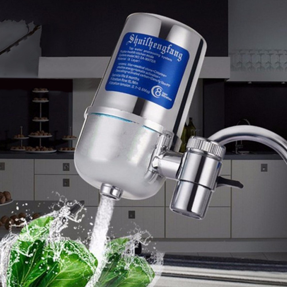 6L Kitchen Tap Water Filter Purifier Household Faucet Ceramic Filter Prefiltration Accessories Contaminant Alkaline Water Filter antimicrobial contaminant elimination from water and waste sludge