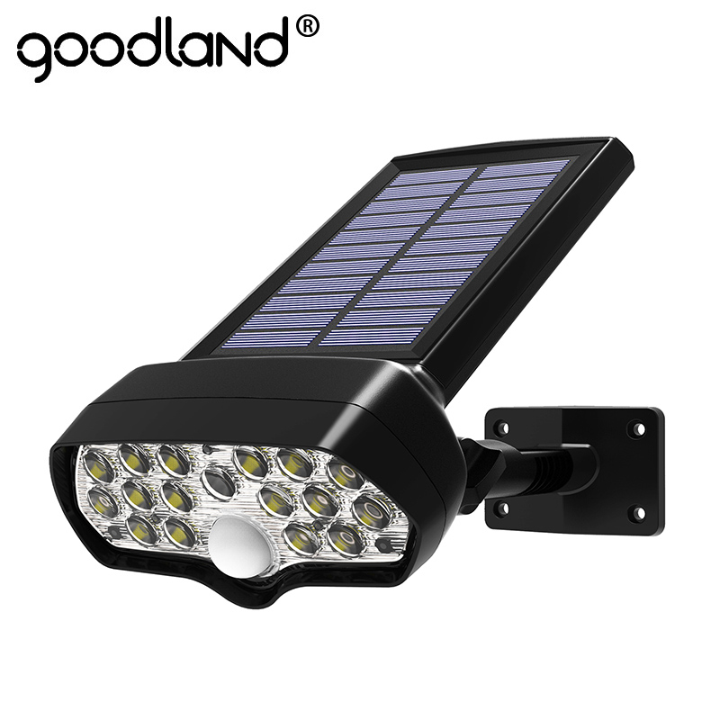 Goodland LED Solar Light Shark PIR Motion Sensor Solar Lamp Waterproof Solar Powered Spotlight for Outdoor Garden Wall Lamp bekker bk 9223 3