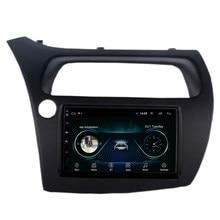 Sistema multimídia automotivo, rádio com gps, câmera microfone wi-fi embutido, sistema de reprodutor multimídia, idioma para honda civic hatchback 9 polegadas android 8.1